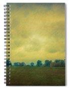 Red Barn Under Stormy Skies Spiral Notebook