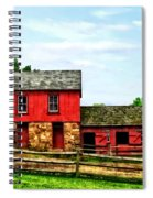 Red Barn With Fence Spiral Notebook
