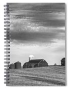 Red Barns Bw Spiral Notebook