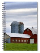 Red Barns Of 3 Spiral Notebook