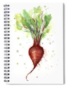 Red Beet Watercolor Spiral Notebook