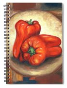 Red Bell Peppers Spiral Notebook