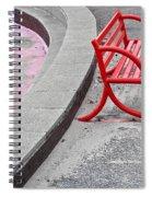 Red Bench Spiral Notebook
