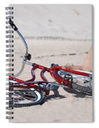Red Bike On The Beach Spiral Notebook