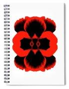 Red Black Botanical Summer Spiral Notebook