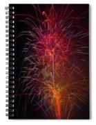 Red Blazing Fireworks Spiral Notebook