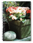 Red Blooms Spiral Notebook