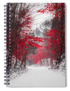 Red Blossoms  Spiral Notebook