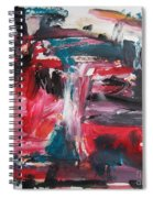 Red Blue Black Abstract Spiral Notebook