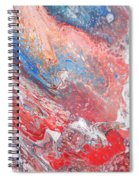 Red Blue White Abstract Spiral Notebook