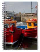 Red Boats Spiral Notebook