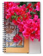 Red Bougainvilleas Spiral Notebook