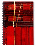 Red Brick And Sticks Spiral Notebook