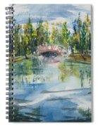 Red Bridge On Lake In The Ozarks Spiral Notebook