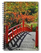 Red Bridge With Shadows Spiral Notebook