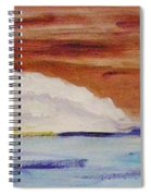 Red Brown Sky Spiral Notebook