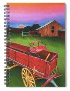 Red Buckboard Wagon Spiral Notebook
