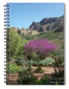 Red Bud Tree On Path Spiral Notebook