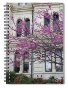 Red Buds And San Antonio City Hall Spiral Notebook