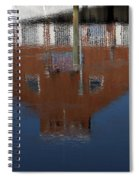 Red Building Reflection Spiral Notebook
