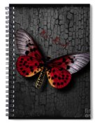 Red Butterfly Spiral Notebook