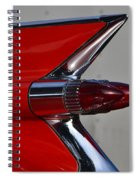 Red Cadillac Fin Spiral Notebook