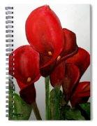 Red Callas Spiral Notebook