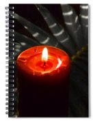 Red Candle Spiral Notebook