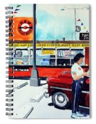 Red Car At The A And W Spiral Notebook