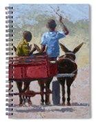 Red Cart Spiral Notebook