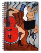 Red Cello 2 Spiral Notebook