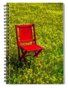 Red Chair Amoung Wildflowers Spiral Notebook
