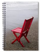 Red Chair On The Beach Spiral Notebook