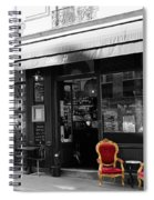Red Chairs Spiral Notebook
