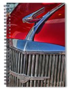 Red Chevrolet Grill And Hood Ornament Spiral Notebook