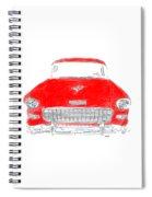 Red Chevy T-shirt Spiral Notebook