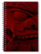 Red Chinese Dragon Spiral Notebook