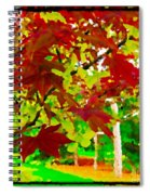 Red Chinese Maple Leaf's Spiral Notebook