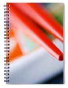 Red Chopsticks Spiral Notebook