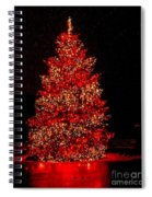 Red Christmas Tree Spiral Notebook