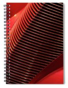 Red Classic Car Details Spiral Notebook