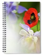 Red Corn Poppy Spiral Notebook