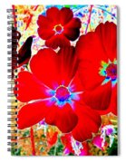 Red Cosmos Spiral Notebook
