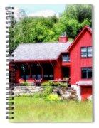 Red Cottage Spiral Notebook
