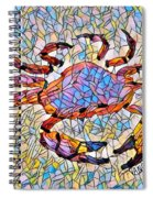 Red Crab Stained Glass Spiral Notebook
