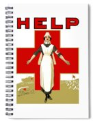 Red Cross Nurse - Help Spiral Notebook
