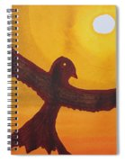 Red Crow Repulsing The Monkey Original Painting Spiral Notebook