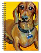 Red Dachshund - Tigger Smiles Spiral Notebook