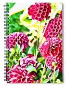 Red Dahlias Spiral Notebook