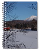 Red Dam And Percy Peaks In Winter Spiral Notebook